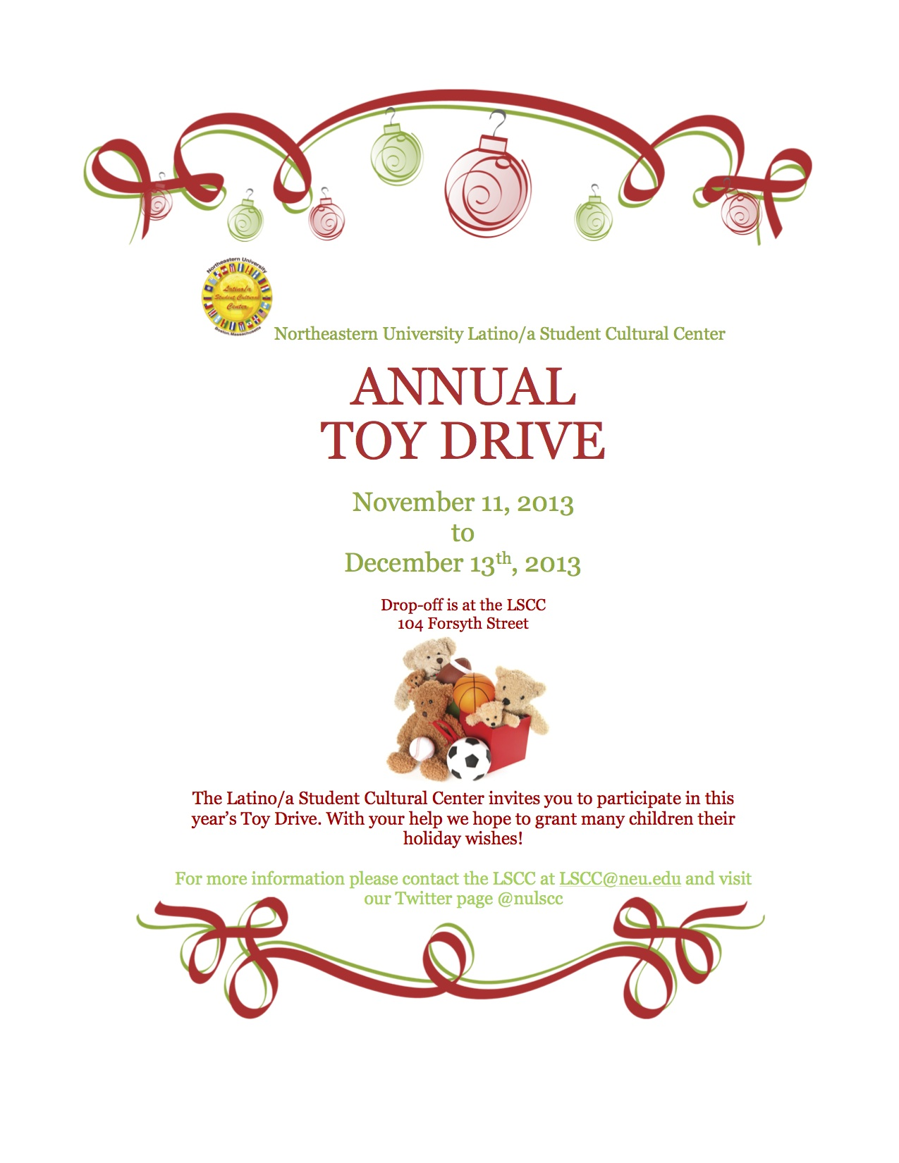 Toy Drive Flyer : Lscc toy drive nu student life