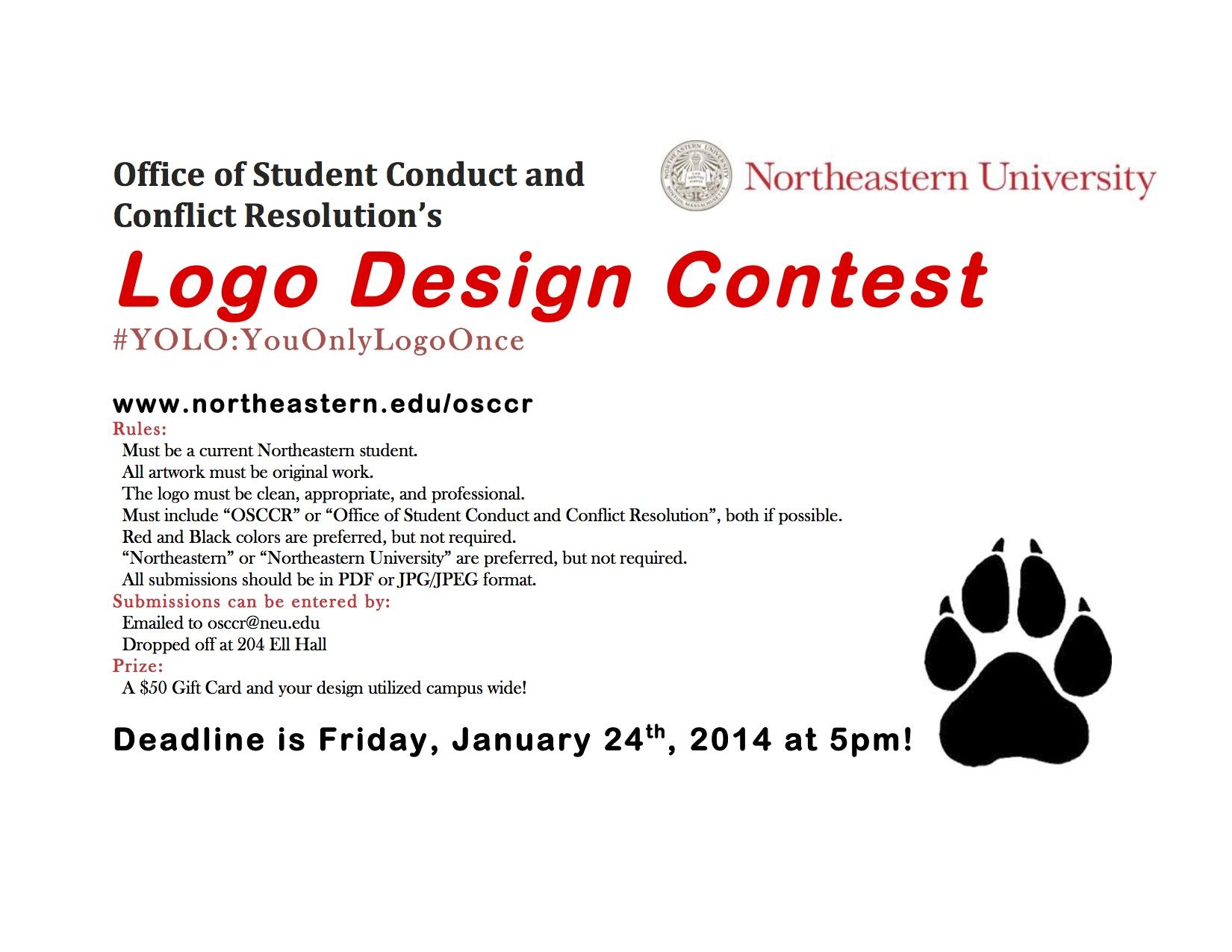 design a logo for osccr nu student life