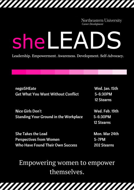 sheLEADS flyer Spring 2014