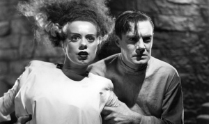 Bride of Frankenstein (1935)  Directed by James Whale Shown from left: Elsa Lanchester (as The Bride), Colin Clive (as Henry Frankenstein)