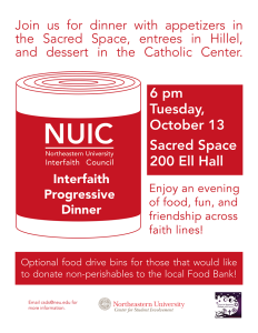 interfaith dinner