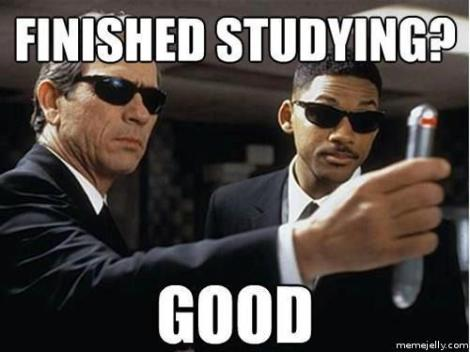 finished studying