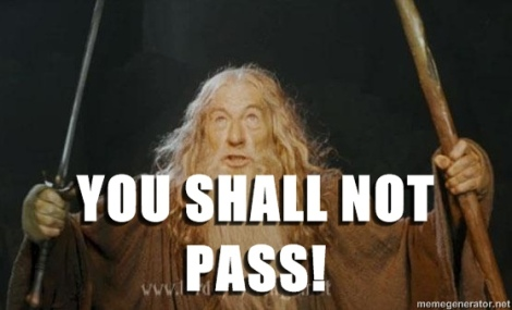 you shall not pass